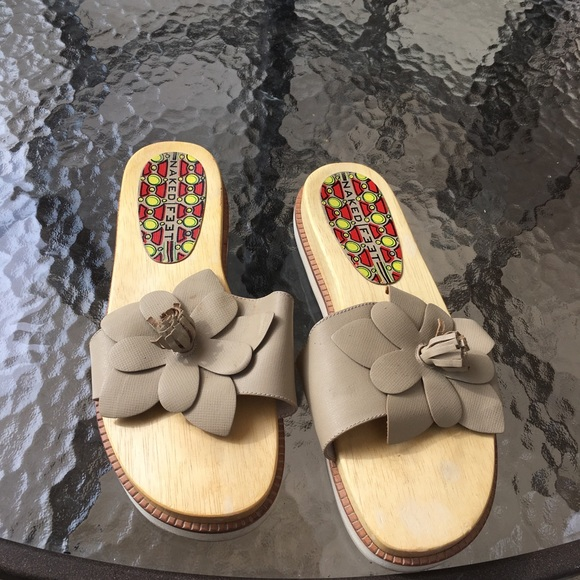 Naked Feet Wooden Sole Sandals